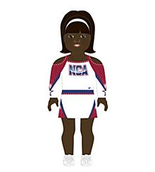 NCA All-Star National Championship Doll Uniform Dark Skin
