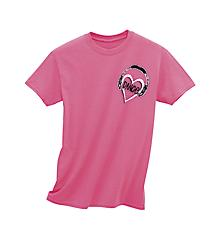 Dance My Heart Beats In 8 Counts Neon Pink Tee