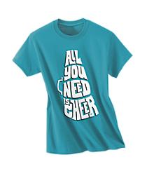 All You Need Is Cheer Peacock Blue Tee