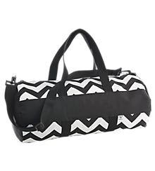 Chevron Barrel Bag