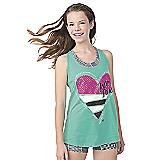Aqua Love Dance Twist Back Loose Tank