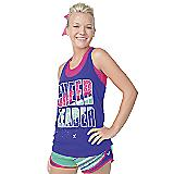 Neon Purple Cheerleader Twist Back Tank