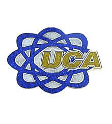 UCA Glitter Atom Pin