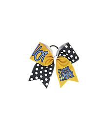 UCA Navy Polka Dot Bow