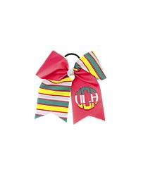 UCA Striped Monogram Cheer Bow