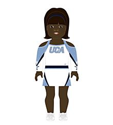 Universal Cheerleaders Association Doll Uniform Dark Skin