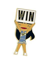 Varsity Doll Win Pin