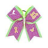 "St. Jude ""Never Give Up"" Rhinestone Bow"