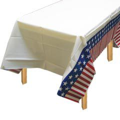 Patriotic Americana Theme Party Plastic Table Covers