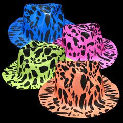 Windy City Novelties Neon Animal Print Plastic Fedoras - 12 Pack Party Hat - Pretend Play & Dress Up at Sears.com
