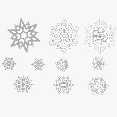Snowflake Silver & White Cutouts - 30 Pack DEC190324UN