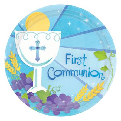 Blue First Communion 7