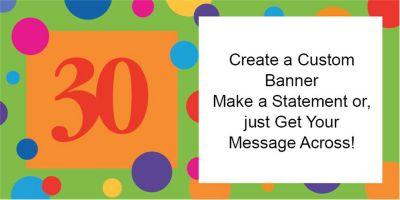 30th Birthday Dots Custom Banner