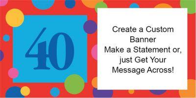 40th Birthday Dots Custom Banner