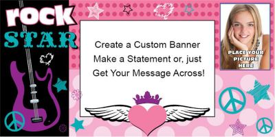 Rocker Girl Custom Photo Banner