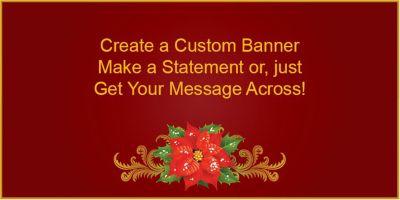 Poinsettia Custom Banner