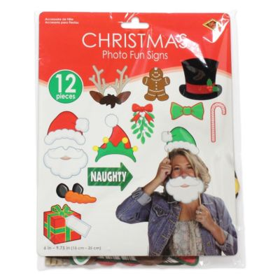 Merry Christmas Photo Booth Prop Kit DEC20166UN
