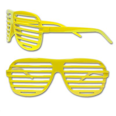 Yellow Slotted Glasses - 12 Pack GLS163DZ