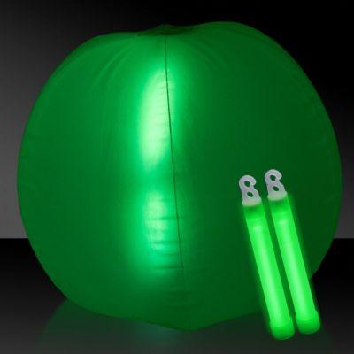 "Glow in the Dark Beach Ball - 24"""" Red, 1 Each"" GNO11-GNO112EA"
