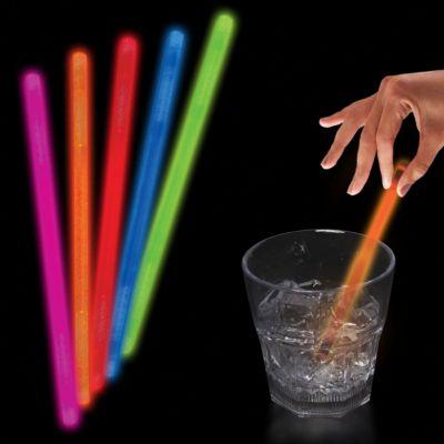 """Pink Glow Swizzle Sticks-5""""""""-50 Pack"""" GSW50-GSW505UN"""