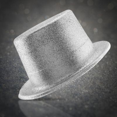 Silver Glitter Top Hat HAT471EA