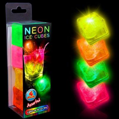 Neon Pink LED and Light-Up Ice Cubes-Unit of 4 LIT73-LIT737UN