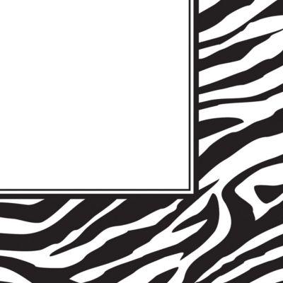 Zebra Print Lunch Napkins 16 Pack