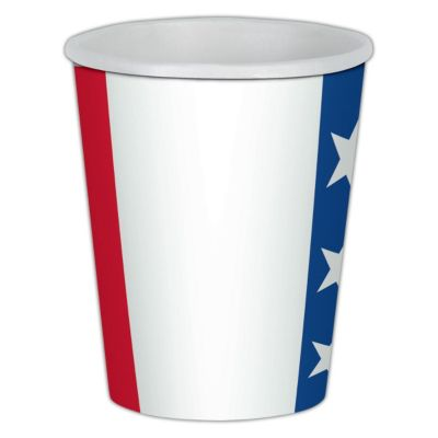 Patriotic Colors Paper Cups - 9oz -8 Per Unit PAP58228CUN