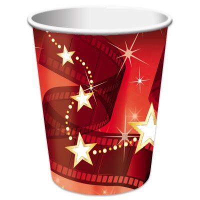 Hollywood Lights Cups- 9oz - 8 Per Unit PAP7607CUN