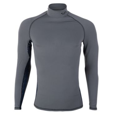 Men's Element Compression Long Sleeve Stranded Print Mock Tee