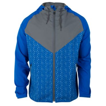 Men's Radius Woven Full Zip Stranded Print Hooded Jacket