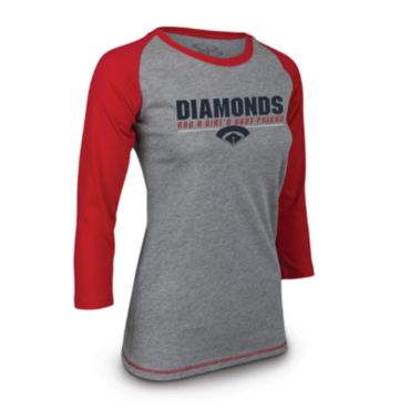 Women's NPF Instinct 3/4 Sleeve Diamonds Shirt