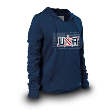 Women's Platinum Blended USA Hoodies