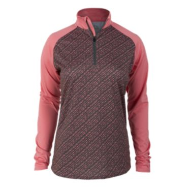 Women's Peak Bead Print Quarter Zip Pullover