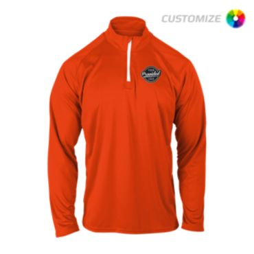 Custom Embroidered Long Sleeve Quarter Zip