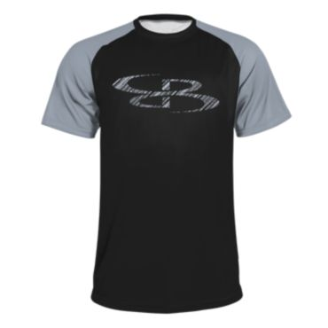 Men's B-Logo Slanted Short Sleeve Shirt