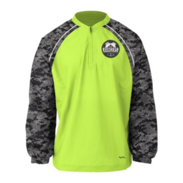 Custom Sublimated Prime Tech Woven 1/4 Zip LS Pullover 1010
