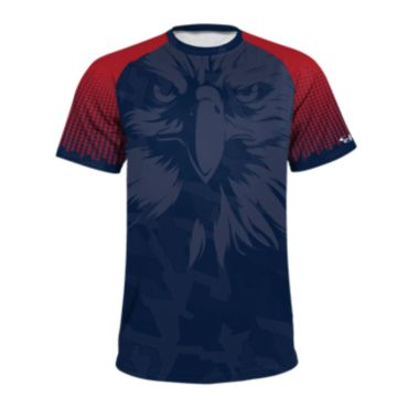 Men's USA Raglan Short Sleeve Shirt 3014