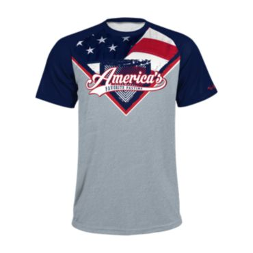 Men's USA Raglan Short Sleeve Shirt 3015