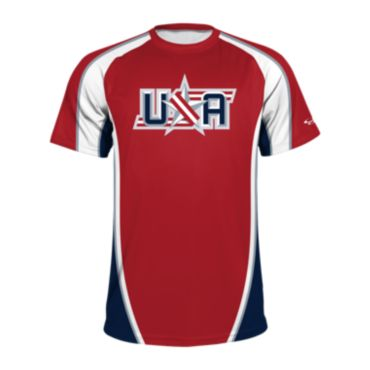 Men's USA Raglan Short Sleeve Shirt 3019