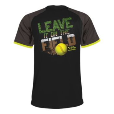 Men's Leave It On The Field Softball Short Sleeve Shirt