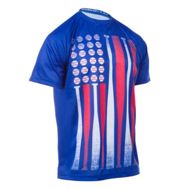 Men's USA Bat Flag INK Short Sleeve Shirt
