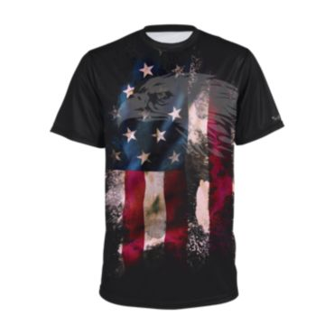 Men's USA Raglan Short Sleeve Shirt 3011