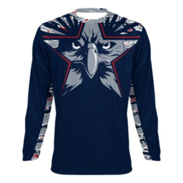 Men's USA Star Eagle INK Long Sleeve Shirt