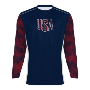 Men's USA Long Sleeve Shirt 3005