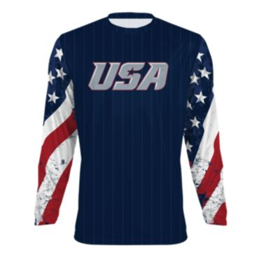 Men's USA Long Sleeve Shirt 3009