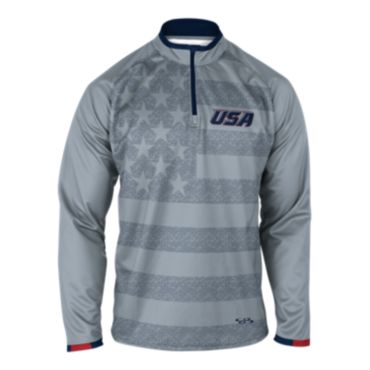 Men's USA INK Quarter Zip Pullover 3004