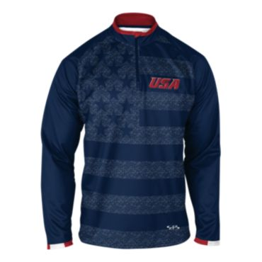 Men's USA INK Quarter Zip Pullover 3004