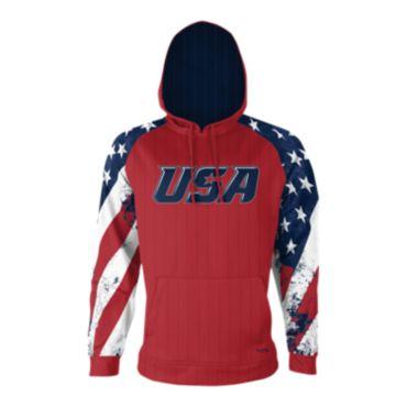 Men's USA Fleece Hoodie 3008