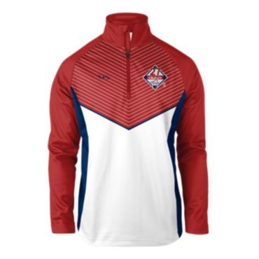 Men's INK Mike Trout MLBPA Quarter Zip Pullover